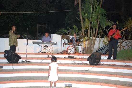 Live Band in action at Sunaparanta's amphitheatre