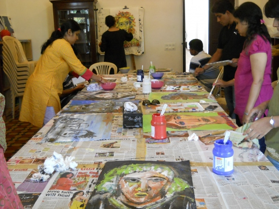 Acrylic on Canvas with Shilpa Nasnolkar - Batch 1 - Feb to March 2012