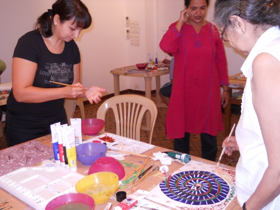 Acrylic on Canvas with Shilpa Nasnolkar - Batch 2 - 16th to 20th April 2012
