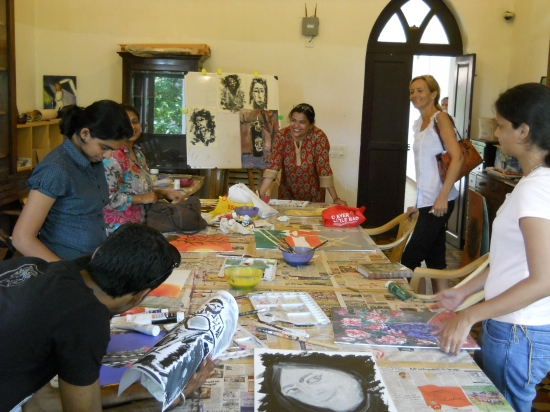 Acrylic on Canvas with Shilpa Nasnolkar - Batch 3 - June/July 2012
