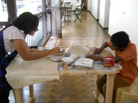 Basic Paper Lamp workshop with Soumyajit Choudhury - 24 to 26 July 2012