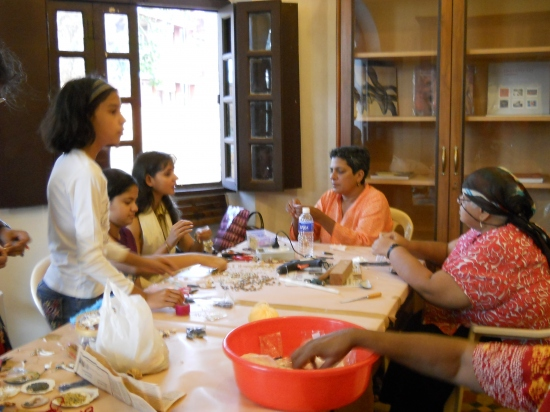 Shell Craft Jewellery workshop by Bhawna Vij Katyal